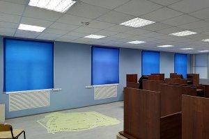 Рулонные шторы MG, материал Альфа синий
