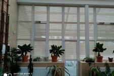 Зимний сад с рулонными шторами