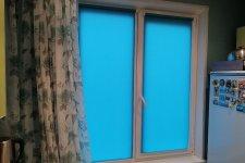 Рулонные шторы МИНИ, ткань Ажур, цвет - бирюза
