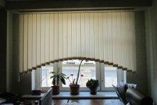 Вертикальные жалюзи аркой, цвет-персик